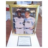 Hank Aaron & Whitey Ford Signed 8 x 10