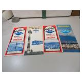 4 Vtg 1967, 68 and 69 Gray Line Tour Guides of
