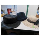 3 Antique Ladies Hats(McMaura 100% Wool, Miller &
