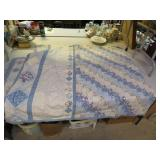"Machine Made Quilt 98"" x 100""with 2 matching shams"