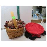 2 Very Nice Holiday Baskets 8""