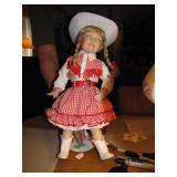 1995 Karen Scott Porcelain Doll 17&1/4""