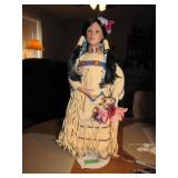 Danbury Mint Porcelain Doll 17""