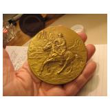 "John Wayne 3"" Bronze Medallion with Stand"