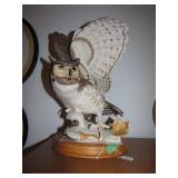 1989 Franklin Mint Great Horned Owl 14&1/4""