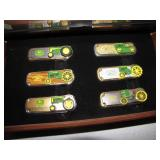 6 Franklin Mint John Deere Pocket Knives withCase