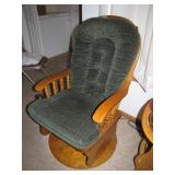 Oak Glider Rocker Swivels & Glides Bring Help