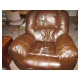 Leather Rocker Recliner (Well Used) Bring Help