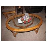 Glass Top Coffee Table (Nativity Center Piece not