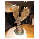 "Bronze Eagle by Moigniez 15&1/2"" Marble Base"