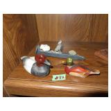 Decoratives --  Wood Duck, Porcelain Duck &