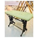 Victorian Ornate Cast Iron bench original Paint