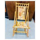 Antique Childs Victorian rocker