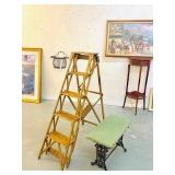 Antique Wooden Ladder dated 1919