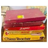 Vintage 3 Scrabble & 2 other board games  Lot