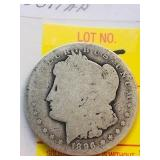 1896 New Orleans Antique Morgan Silver Dollar