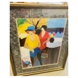 "Itzchak Tarkay ""Garden Party"" framed Art"