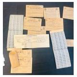 Antique WW11 Ration Coupons and token lot