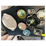 Mid Century Modern ashtrays &  Tray lot