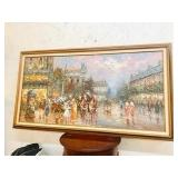 Framed Gorgeous Large Painting Oil on Canvas Paris