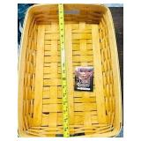 18 inch Longaberger Basket Handmade basket USA
