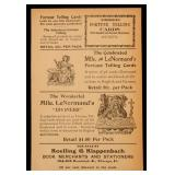 AN ADVERTISING BROADSIDE FOR FORTUNE TELLING CARDS