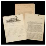 LOT OF EARLY RAILROAD LETTERS AND STATIONERY