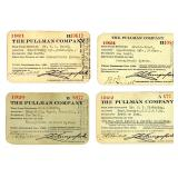 LOT OF PULLMAN CO. RAILROAD PASSES 1913-1939