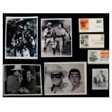 SIX CLAYTON MOORE LONE RANGER SIGNED ITEMS