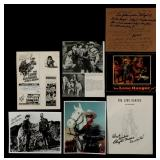LOT OF SEVEN LONE RANGER SIGNED ITEMS