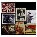 FIVE CLAYTON MOORE SIGNED LONE RANGER ITEMS