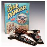 ESQUIRE LONE RANGER HOLSTER & PISTOLS SET WITH BOX