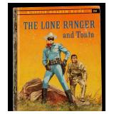 LONE RANGER AND TONTO SIGNED LITTLE GOLDEN BOOK