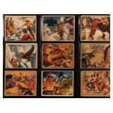 SET OF 48 LONE RANGER CHEWING GUM CARDS, 1940