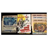 THE LONE RANGER RIDES AGAIN LOBBY CARDS, PRESSBOOK