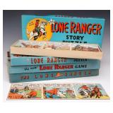 FOUR LONE RANGER BOARD GAME AND STORY PUZZLE SETS