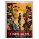 A LONE RANGER ITALIAN LARGE SIZE MOVIE POSTER 1958