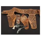 LONE RANGER HOLSTERS AND HUBLEY TEX CAP PISTOLS