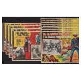 TWELVE LONE RANGER MEXICAN CINEMA LOBBY CARDS