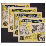 FOUR LONE RANGER MEXICAN CINEMA LOBBY CARDS