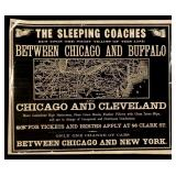 THE SLEEPING COACHES RAILROAD ADVERTISING LEAFLET