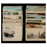 LOT OF 50 RAILROAD THEME POSTCARDS INCLUDING RPPC
