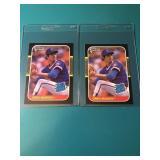 2 1987 Donruss Greg Maddux Rookies