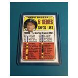 1969 Topps Mickey Mantle Checklist