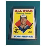 Tom Henke Signed Card