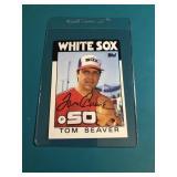 Tom Seaver Signed card