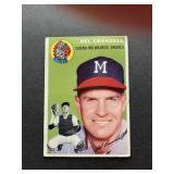 1954 Topps #12 Del Crandall - Milwaukee Braves