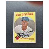 1959 Topps #387 Don Drysdale card  Los Angeles Do