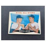 1960 Topps Mickey Mantle / Ken Boyer Rival All-Sta