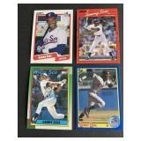 4 Different 2000 Sammy Sosa ROOKIE CARDS  Chicago
